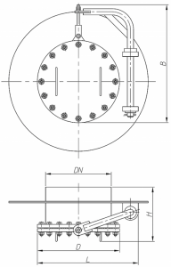 Люк-лаз круглый с поворотным устройством