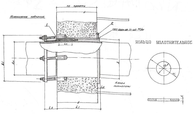 Газонепроницаемый сальник - сборочный чертеж