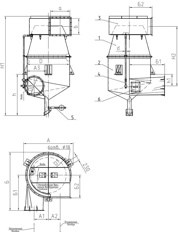 Промыватели скоростные 5.904-61 конструкции СИОТ