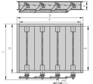 Чертеж общего вида - четырехосный клапан ПГВУ