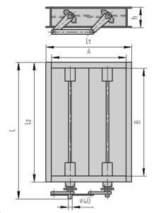 Чертеж - двухосный клапан ПГВУ