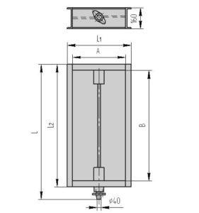 Прямоугольный одноосный клапан ПГВУ