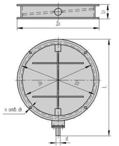 Круглый клапан ПГВУ - схема строения