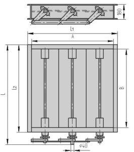 Чертеж общего вида - трехосный клапан ПГВУ