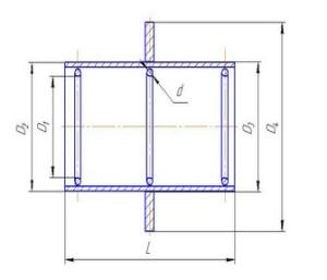 Рабочий чертеж - сальник набивной ТМ90